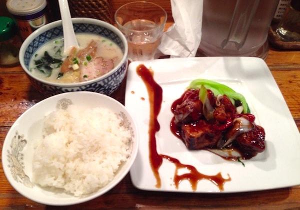 渋谷のなかじま酢豚ランチディナー