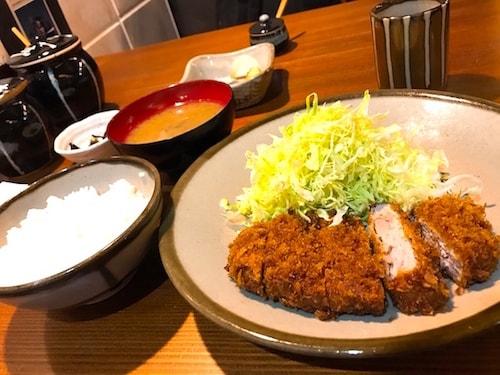 銀座井泉のヒレカツディナー