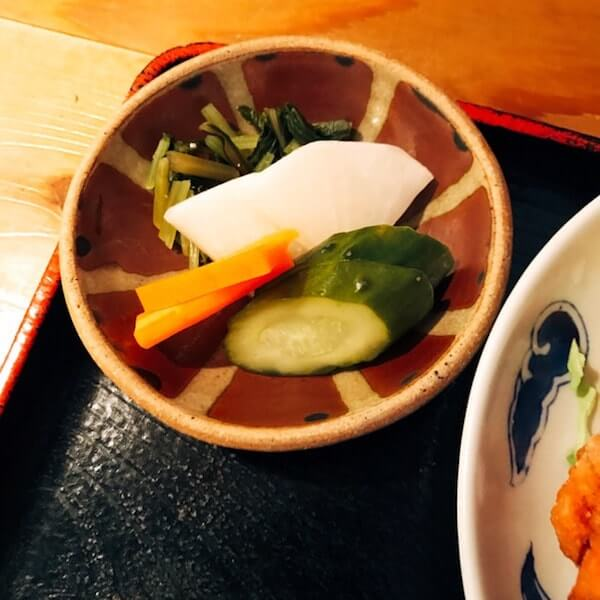 美松(池袋)、漬物メニュー