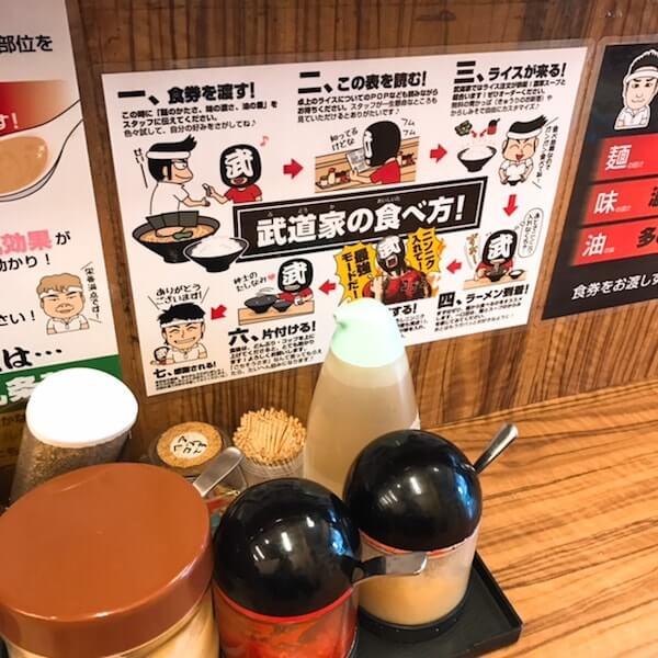 二代目武道家、中野家系ラーメン、食べ方