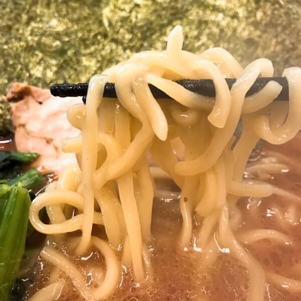 二代目武道家、中野家系ラーメン、麺