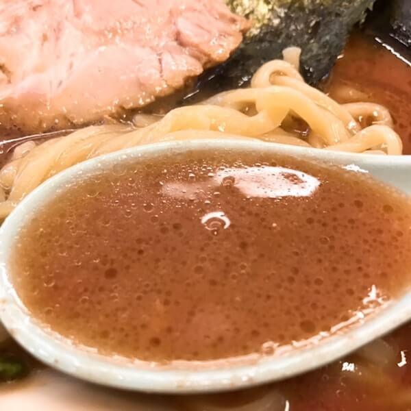 二代目武道家、中野家系ラーメン、スープ