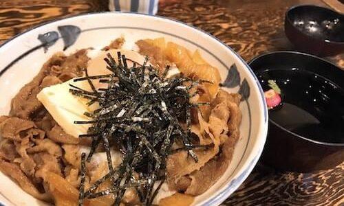 【牛の力】国産牛丼にバターと温玉、ニンニクの合わせ技【上野】