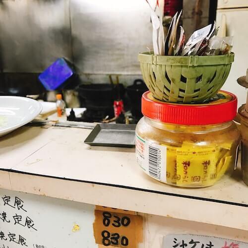 食堂伊賀、店内厨房、中野