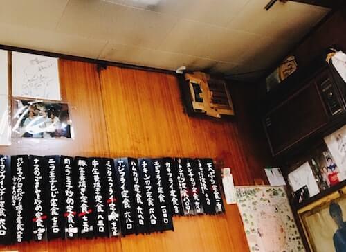 食堂伊賀、メニュー、中野