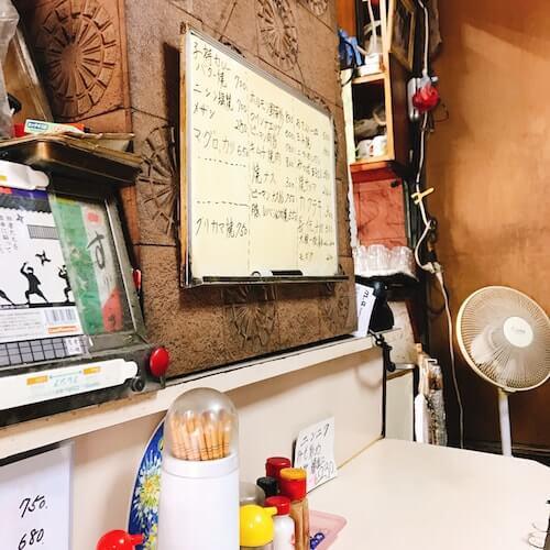 食堂伊賀、内観店内、中野