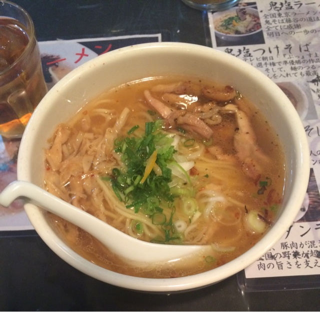 鬼そば 藤谷 渋谷塩ラーメン