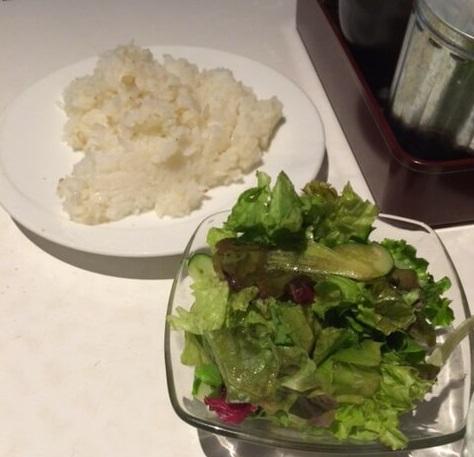ぼんぼりサラダとライス