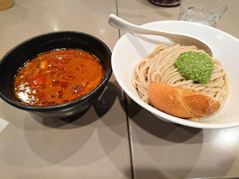 新宿 五ノ神製作所 海老トマトつけ麺