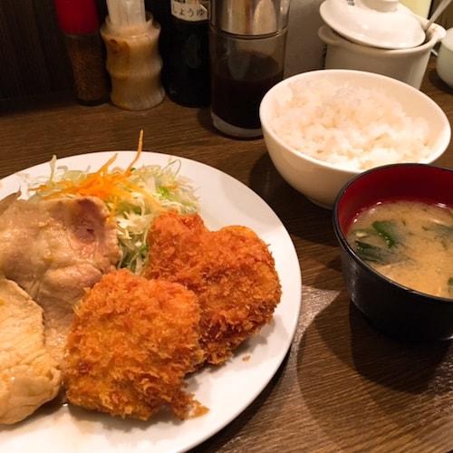 銀座キッチン大勝軒豚生姜焼きヒレカツ