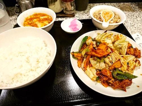 春駒回鍋肉定食(池袋ランチ)