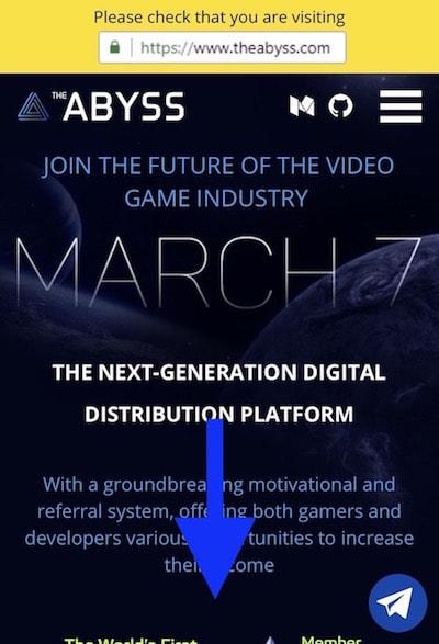 abyss公式サイト登録